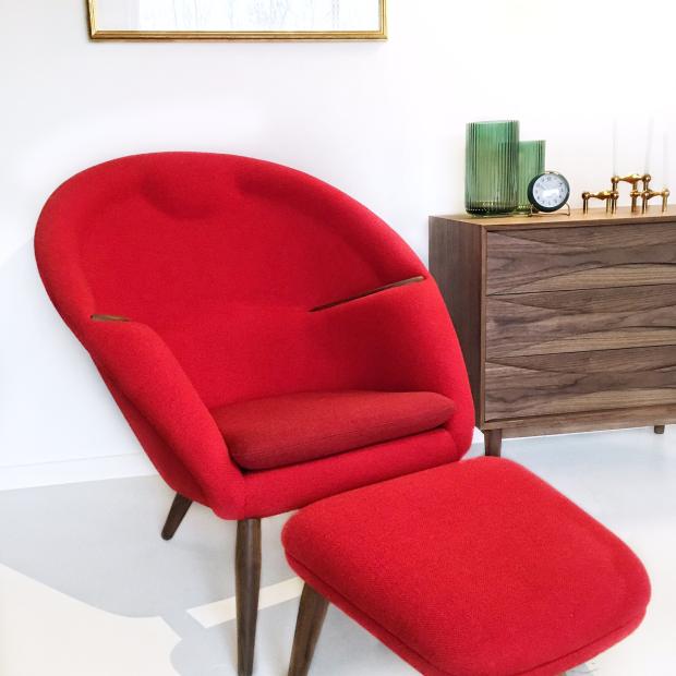 Fodskammel til Nanna Ditzel Oda Chair